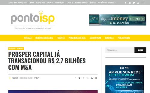 Prosper Capital é destaque em reportagem do Ponto ISP